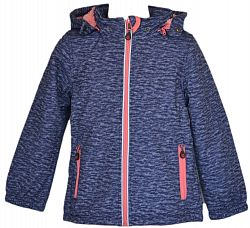 Topo Dievčenská bunda s kožušinkou - tmavo modrá, 116 cm