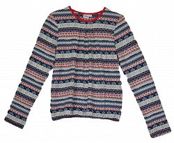 Topo Dievčenská vzorovaná tunika - farebná, 128 cm