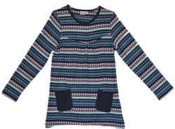 Topo Dievčenská vzorovaná tunika s vreckami - farebné, 110 cm