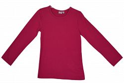 Topo Dievčenské tričko s dlhým rukávom - ružové, 92 cm