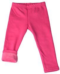 Topo Dievčenské zateplené legíny - ružové, 80 cm