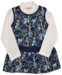 Topo Dievčenský dvojkomplet trička a šiat - farebný, 86 cm