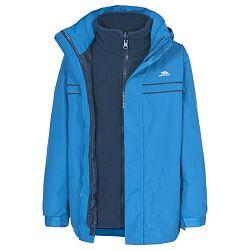 Trespass Chlapčenská bunda Sulivan 3 v 1 - modrá, 98-104 cm