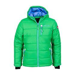 Trollkids Chlapčenská zimná bunda Hemsedal - zeleno-modrá, 140 cm