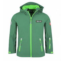 Trollkids Detská softshellová bunda Oslofjord - zelená, 110 cm