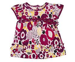 Tup-Tup Dievčenská kvetovaná tunika - farebná, 74 cm