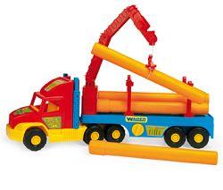 WADER Auto Super Truck stavebné s rúrami - 2 farebné varianty