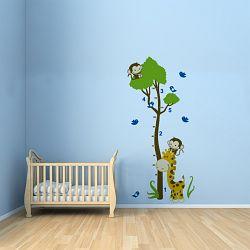 Walplus Samolepka na stenu Meter s opičkami, 150x75 cm