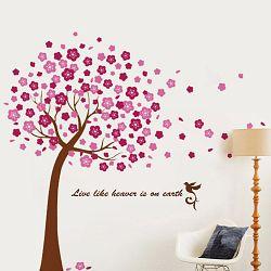 Walplus Samolepka na stenu Ružový strom, 175x150 cm