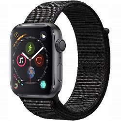 Apple Watch Series 4 GPS 44mm Aluminium Grey Black Sport Loop