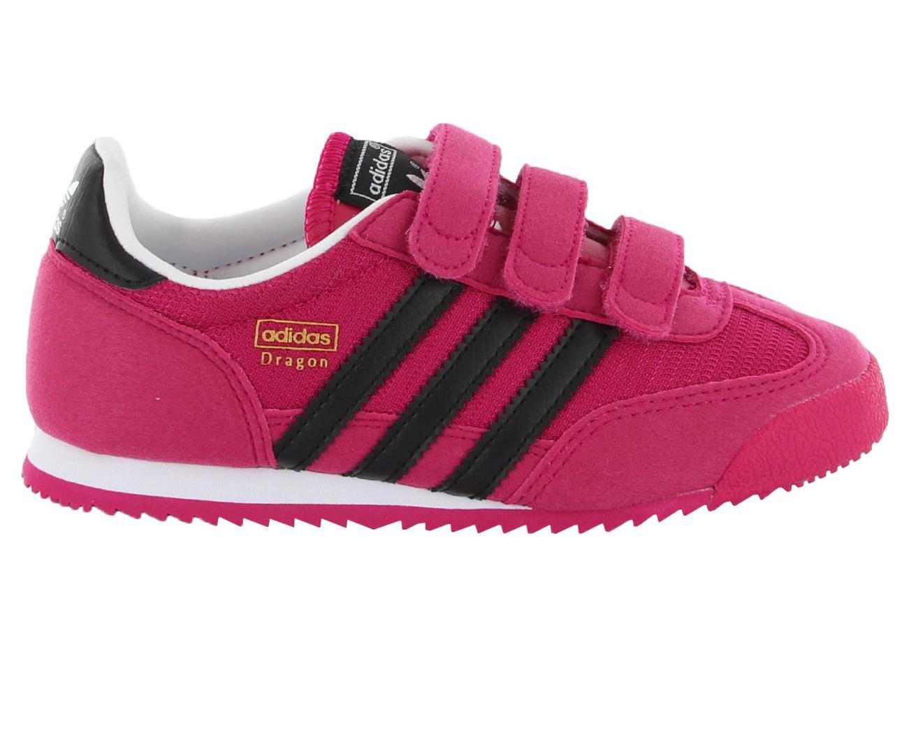 d0e6cf8c633fa Adidas Dievčenské tenisky DRAGON J - ružové, EUR 31   BabyRecenzie.sk