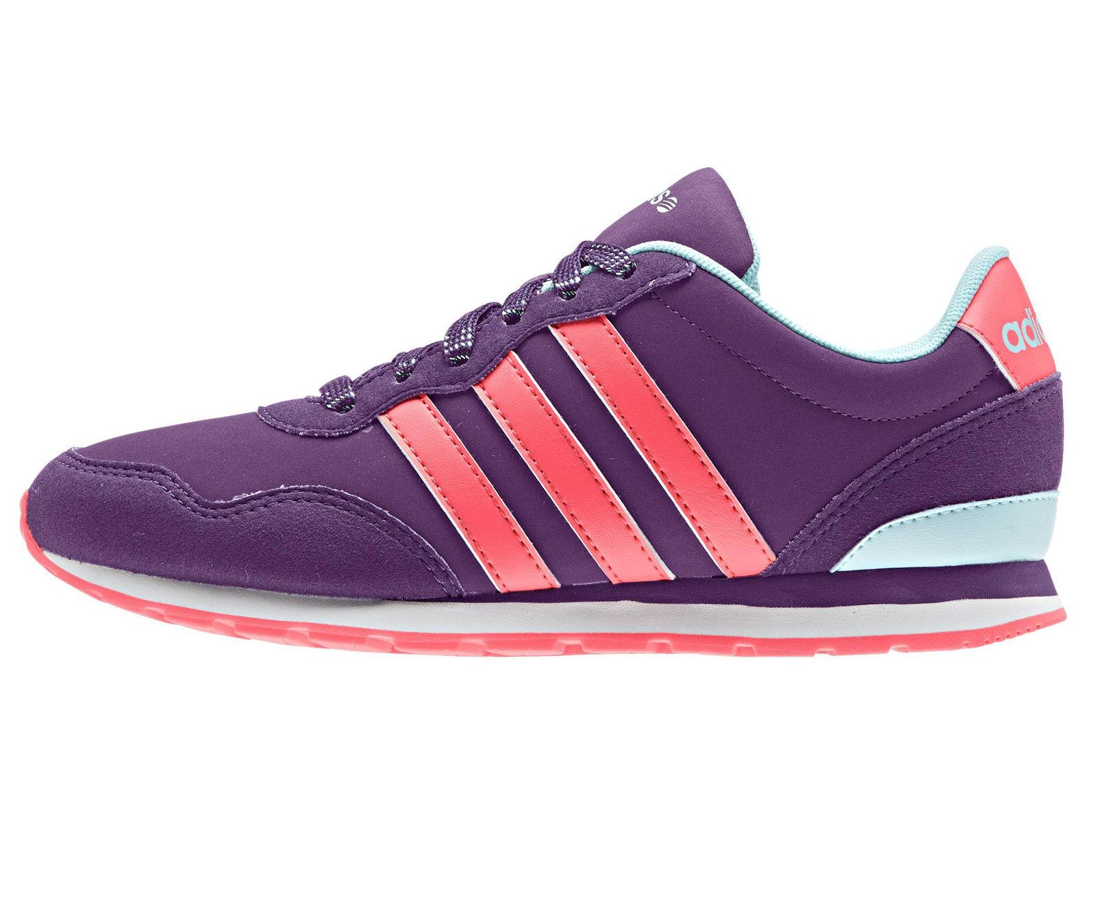adidas Dievčenské tenisky V JOG K - fialové a4d5624122