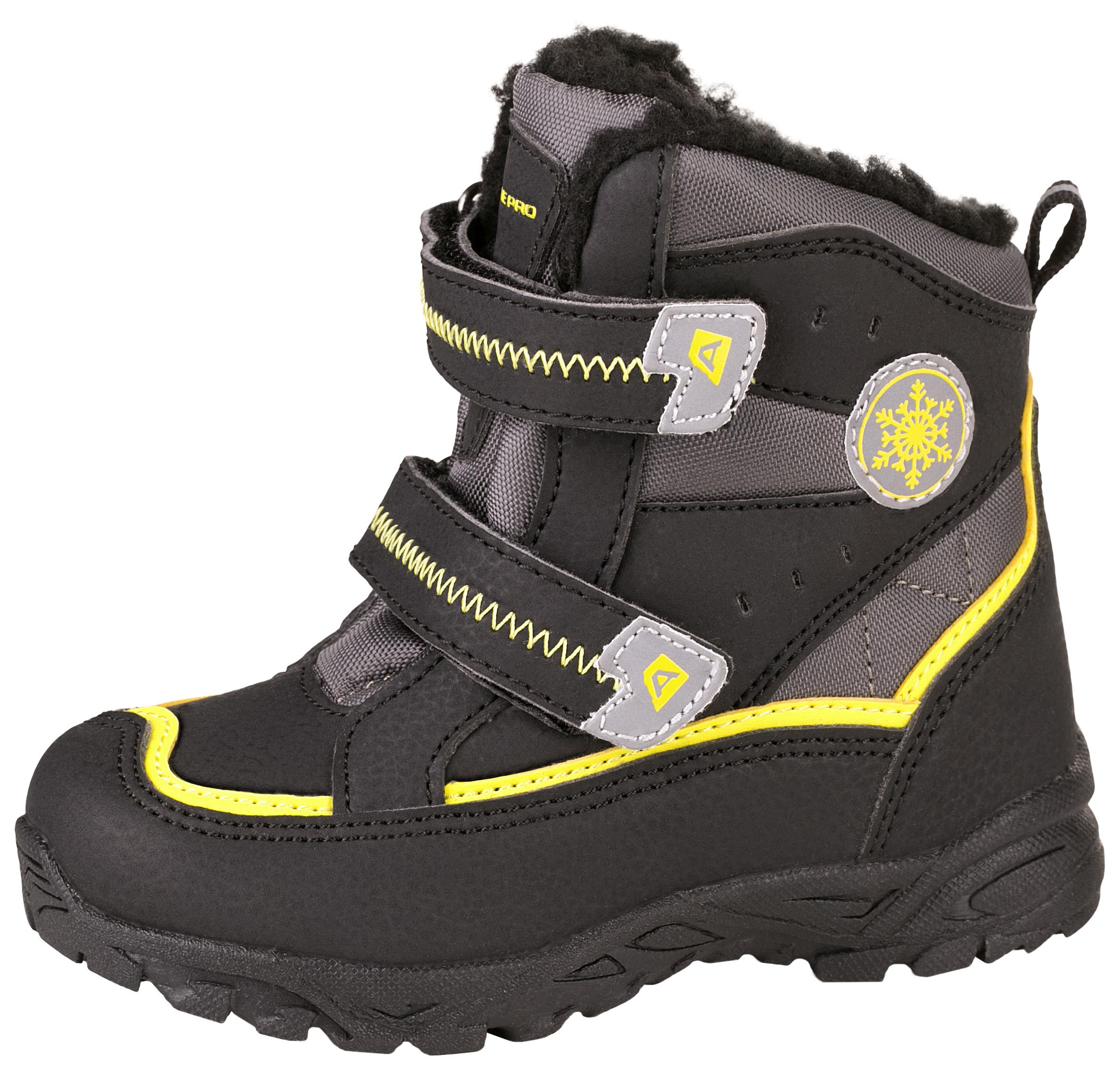 b54cea8c3 ALPINE PRO Detská zimná obuv Kibbi - žlto-čierna, EUR 26 ...