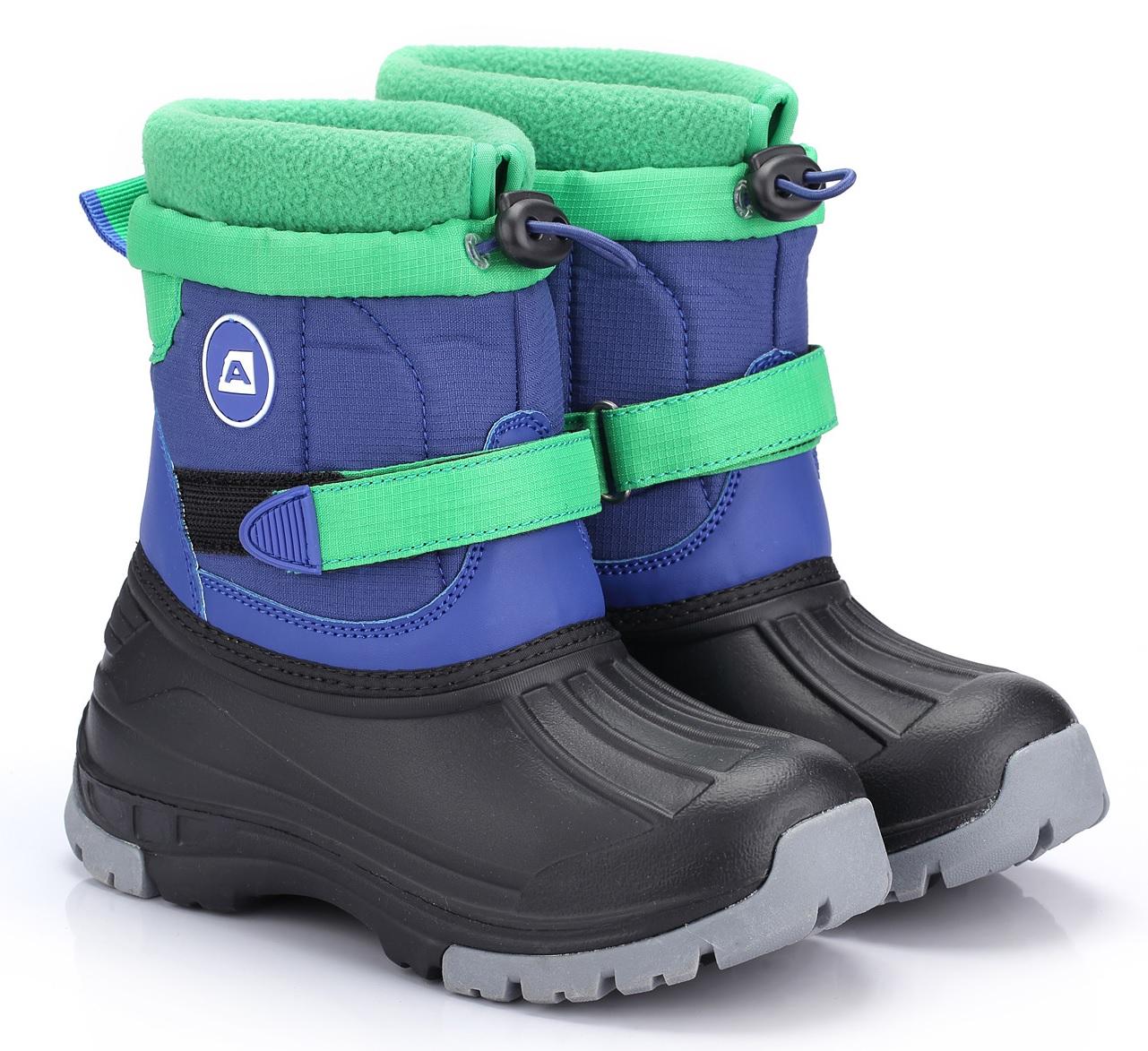 0e15cd2036d4 ALPINE PRO Detská zimná obuv Patam- modro-zelená