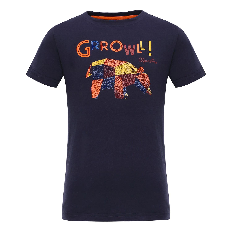 b4edf56687c4 ALPINE PRO Detské tričko Silvano - čierne