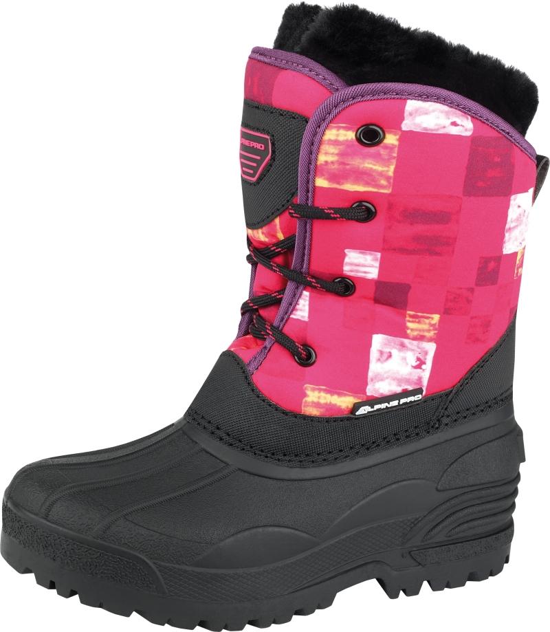 ALPINE PRO Dievčenská zimná obuv Pingora - ružovo-čierne 4db26a921a0