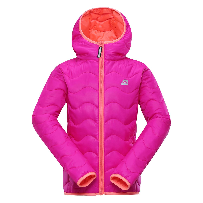 54756d3cacba ALPINE PRO Dievčenská zimná prešívaná bunda Solo - ružová