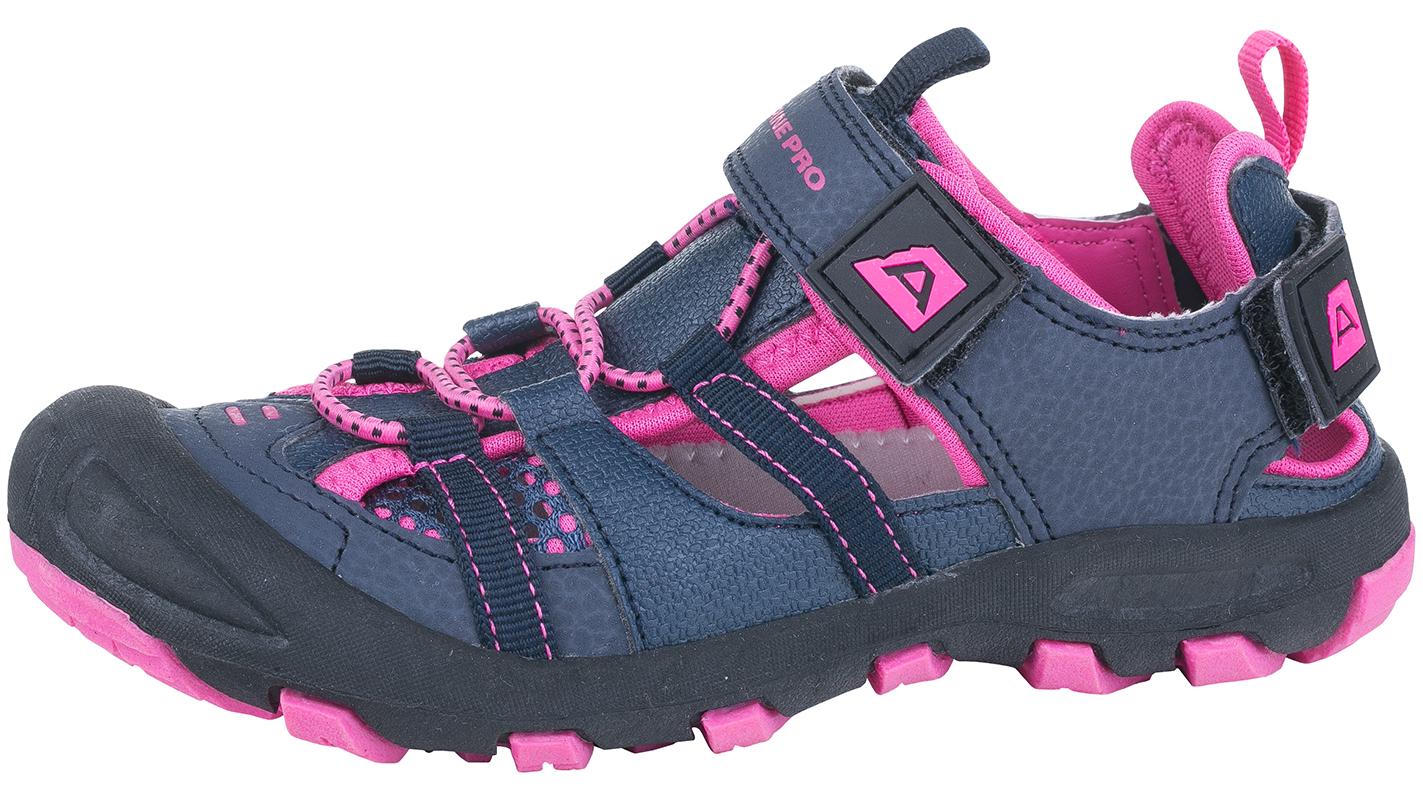 ALPINE PRO Dievčenské sandále Bilpin - ružovo-modré f8129829cdc