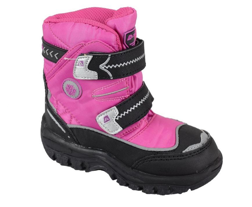 ALPINE PRO Dievčenské zimné členkové topánky Antartica Kids - ružové ... af0e9c4bb12
