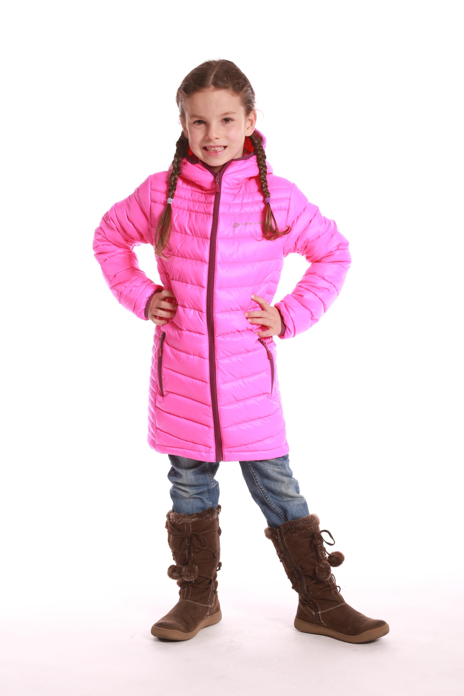 04f28145473b ALPINE PRO Dievčenský kabát Adrianna - ružový