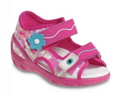 Befado Dievčenské sandále s kvetinkou Sunny - ružové 12fc84f65c