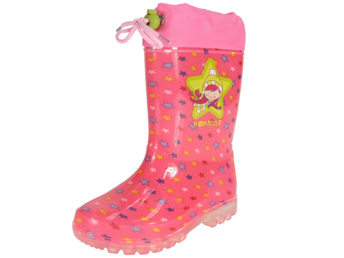Beppi Dievčenské čižmy s hviezdičkami - ružové ded4408f9c8