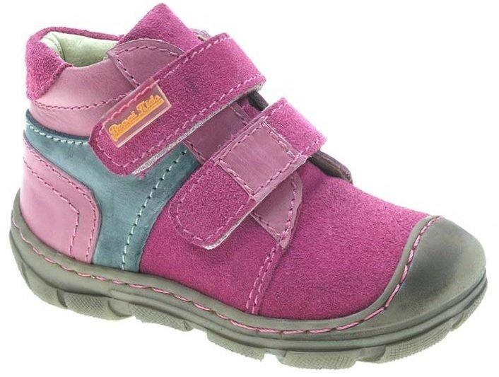 Beppi Dievčenské kožené členkové topánky - ružové 8c1c9c12a49