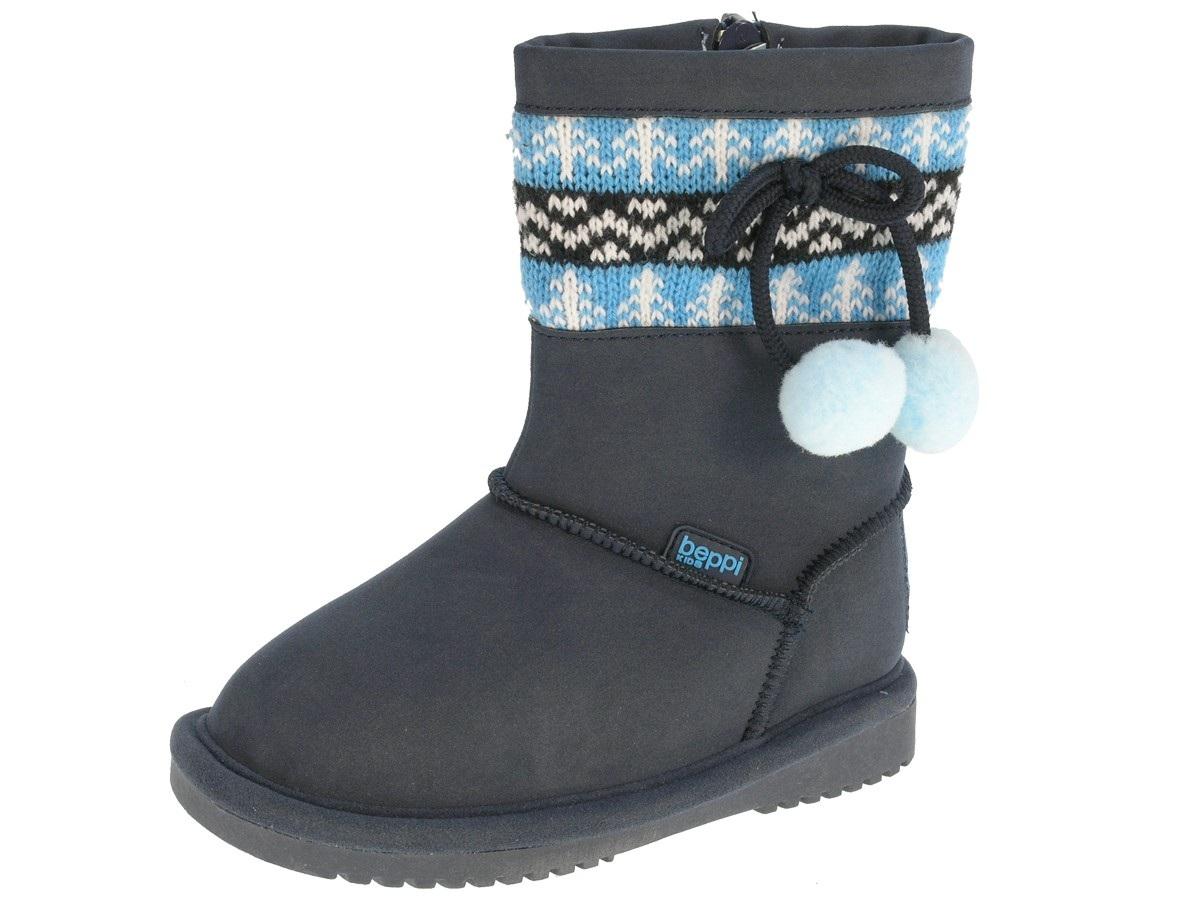 a7b5e6b785a15 Beppi Dievčenské snehule s brmbolcami - tmavo modré, EUR 26 ...