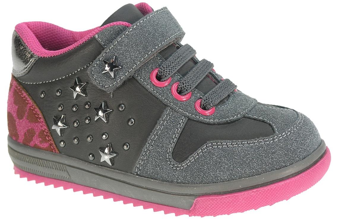 Beppi Dievčenské tenisky s hviezdičkami - šedé 90f48939ea7
