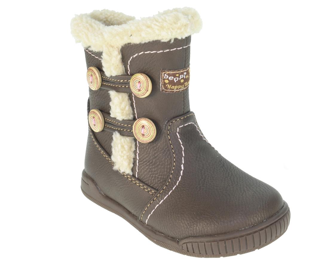 Beppi Dievčenské zimné topánky - hnedé ae4337dee01