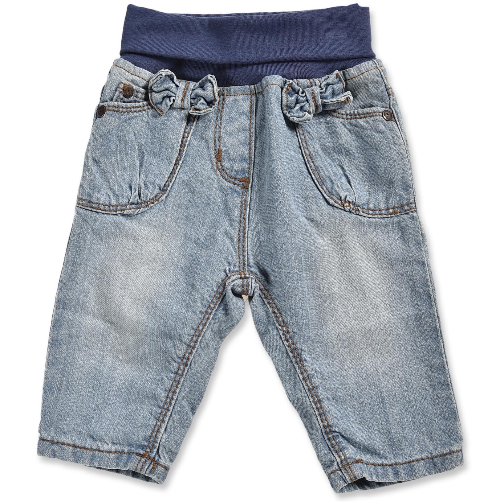 b5942eafce9f Blue Seven Dievčenské džínsové nohavice s mašličkami - svetlo modré ...
