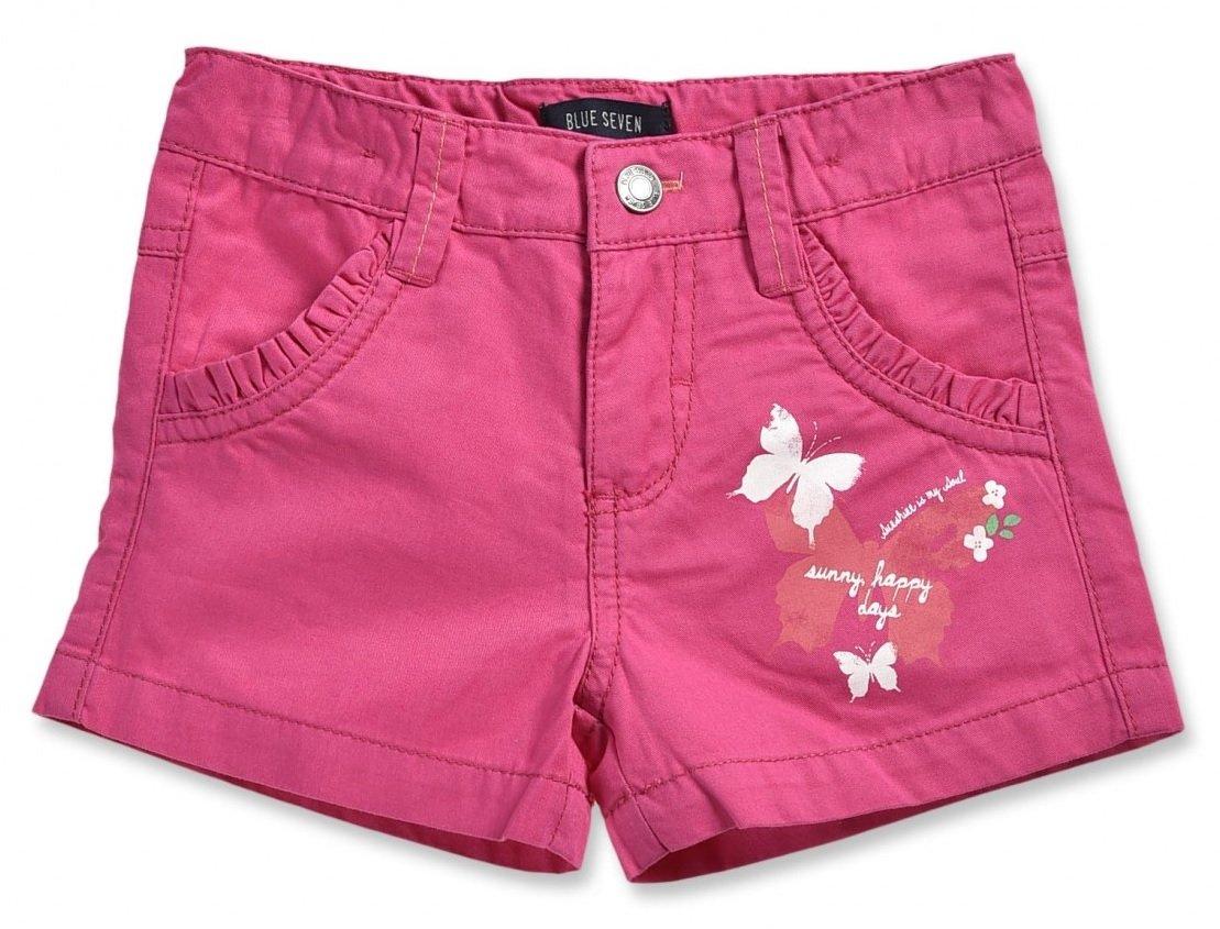 ba1137bb04c6 Blue Seven Dievčenské šortky s motýliky - ružové