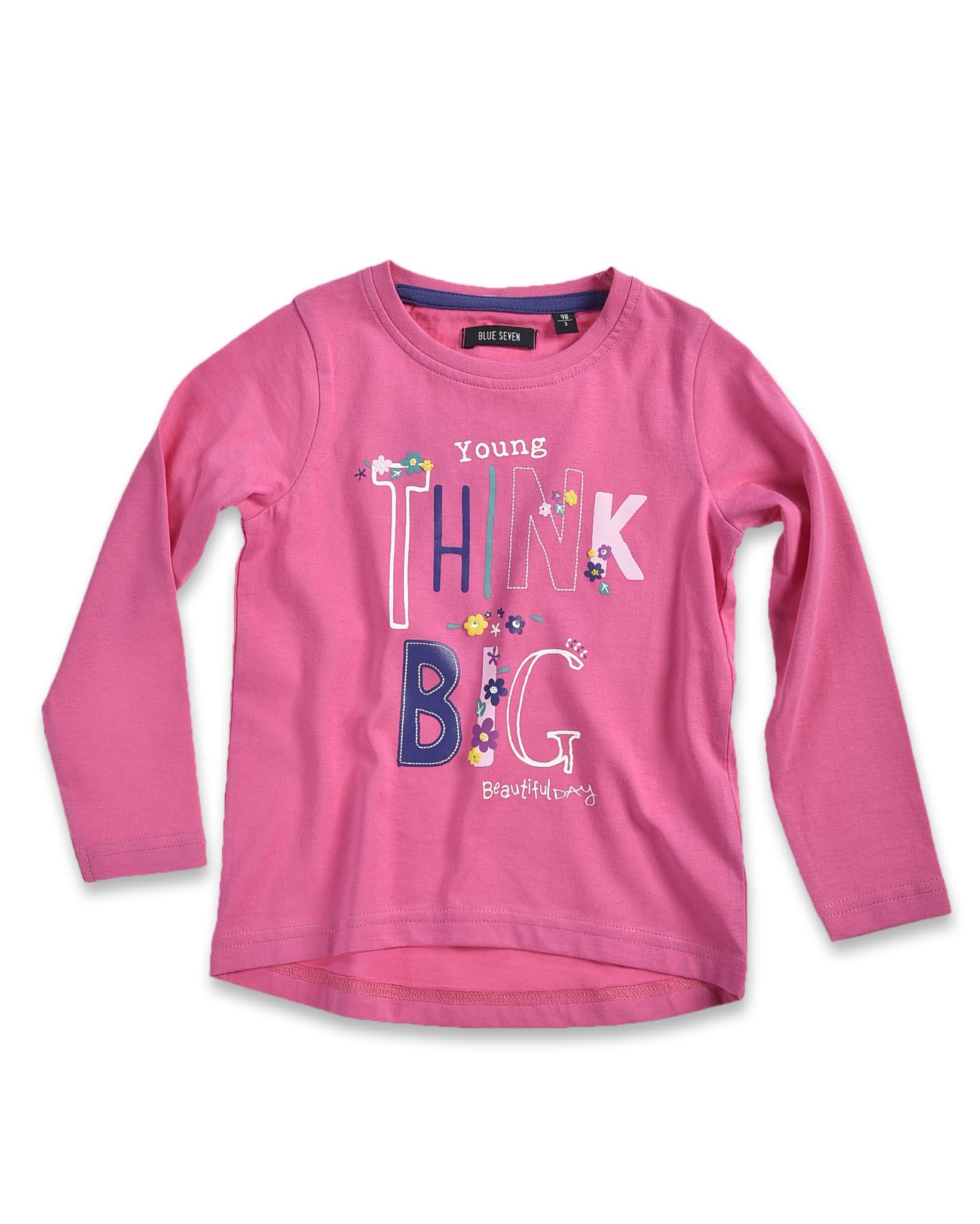 988caec891ae Blue Seven Dievčenské tričko Think big - ružové