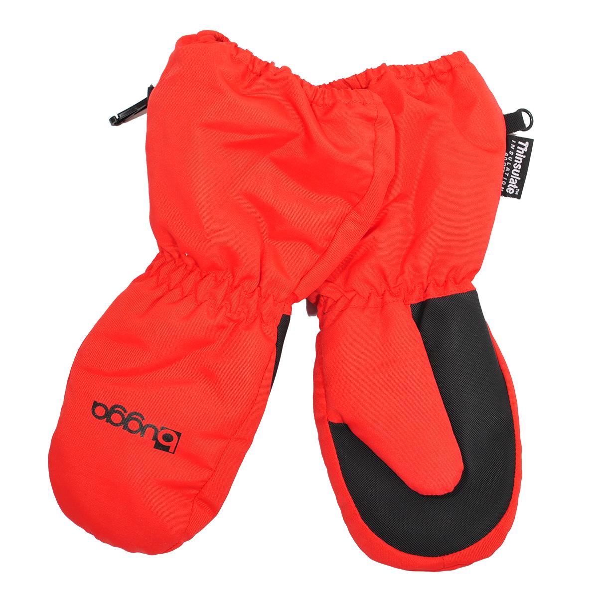 62041037993 Bugga Detské zimné rukavice s kožušinkou - červené