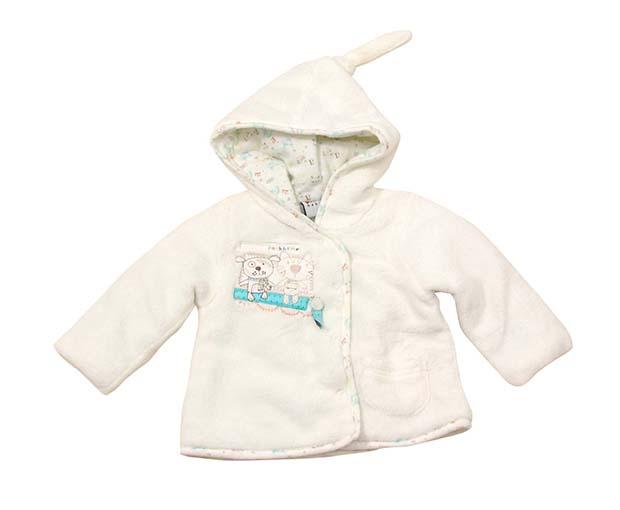 5ff0301e1d66 Bugga Detský chlpatý kabátik s kapucňou - béžový