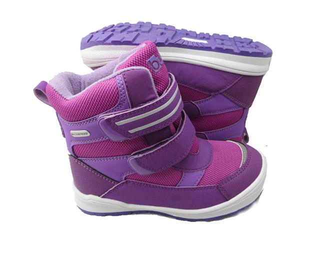 c63d982c767f1 Bugga Dievčenské zimné topánky s membránou - ružovo-fialové, EUR 25 ...