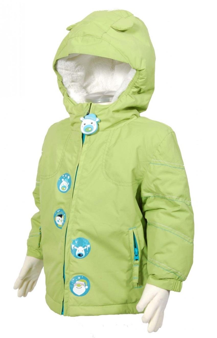 Bugga Zimná bunda so zvieratkami - limetková 780203b1174