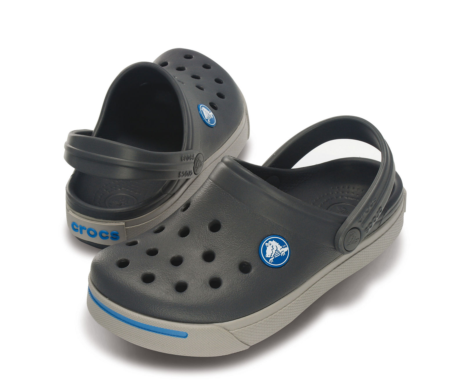 Crocs Detské sandále Crocband II - šedé 734fadc1d87