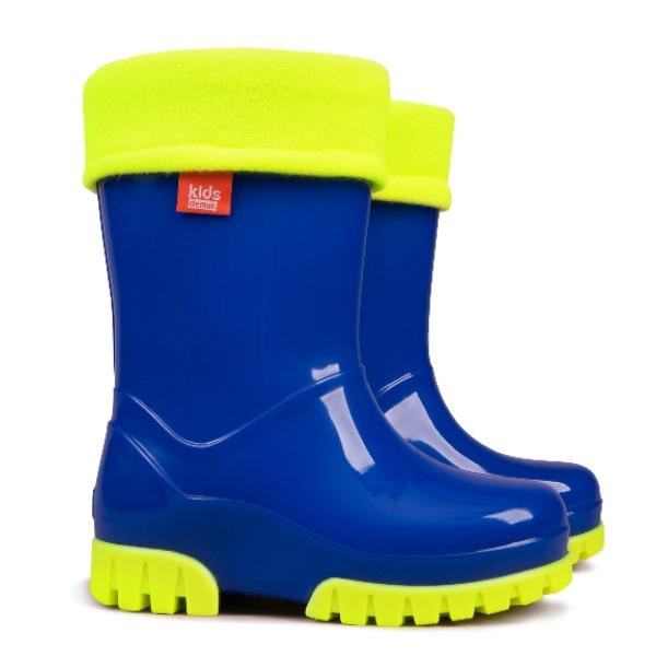 6bc40c601096 Demar Chlapčenské gumáky Twister LUX Fluo - modré