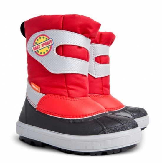 Demar Dievčenské snehule Baby Sports E - červené fe6f58ecf5