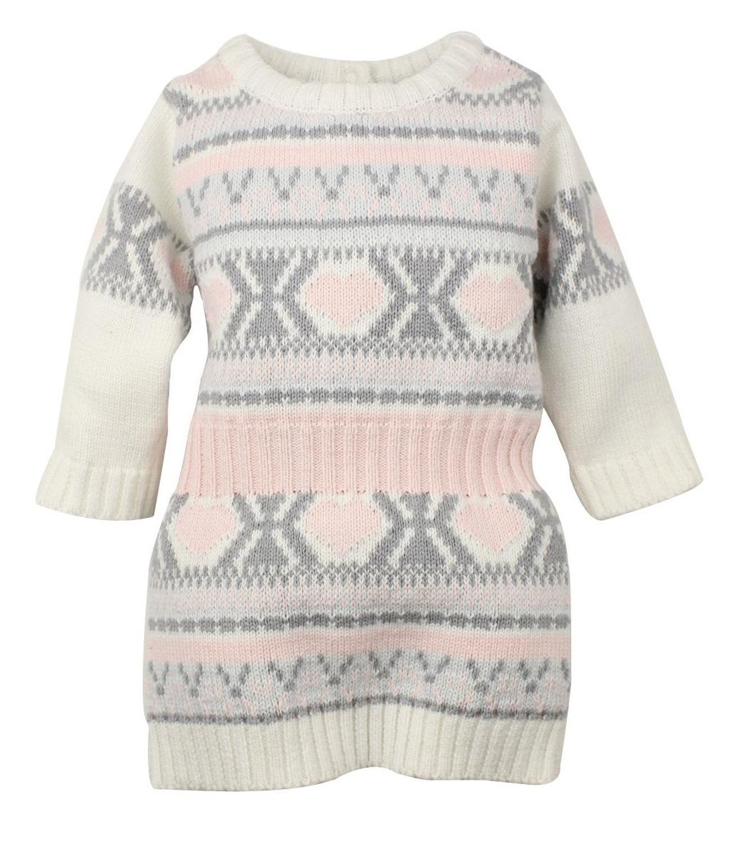 722762db3e87 Dirkje Dievčenské pletené vzorované šaty - farebné