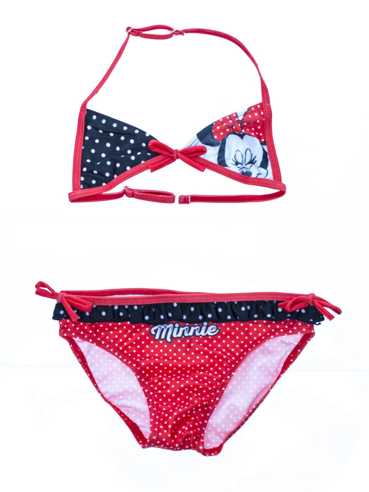 d48f8112a6 Disney Dievčenské dvojdielne plavky Minnie - červené