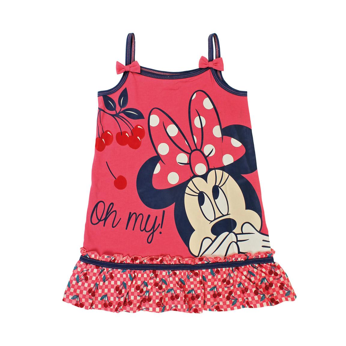 b495cd606020 Disney Dievčenské šaty Minnie - ružovo - modré