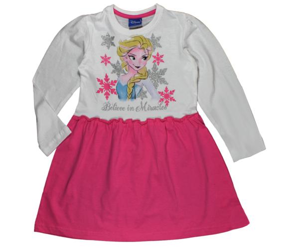 8ee7dfbf1e97 E plus M Dievčenské šaty Frozen - bielo-ružové