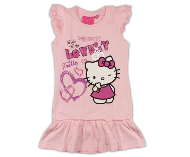 900061e9eee9 E plus M Dievčenské šaty Hello Kitty - svieľa ružové