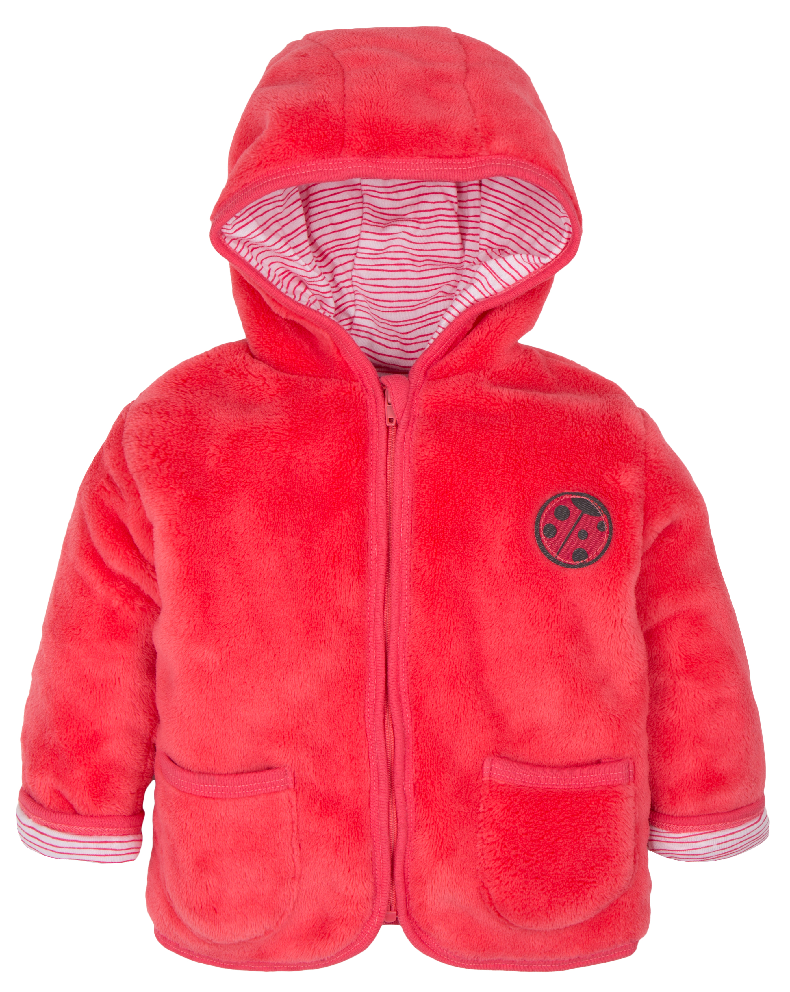 43ba75bed6fa G-mini Dievčenský hrejivý kabátik s kapucňou Lienka - ružový