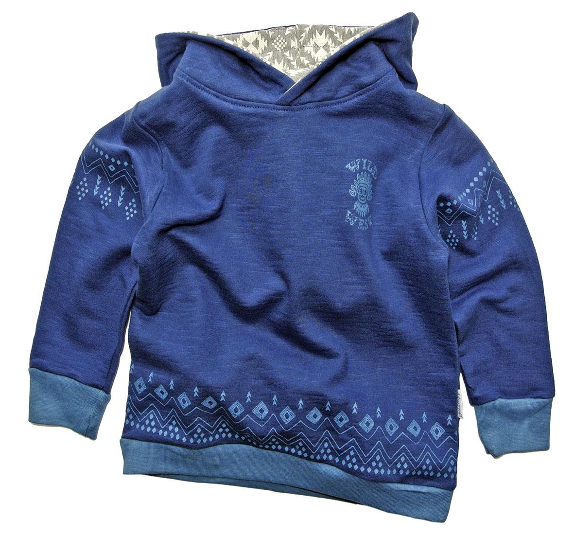 13c35a5ffc72 Gelati Chlapčenská mikina s kapucňou - tmavo modrá
