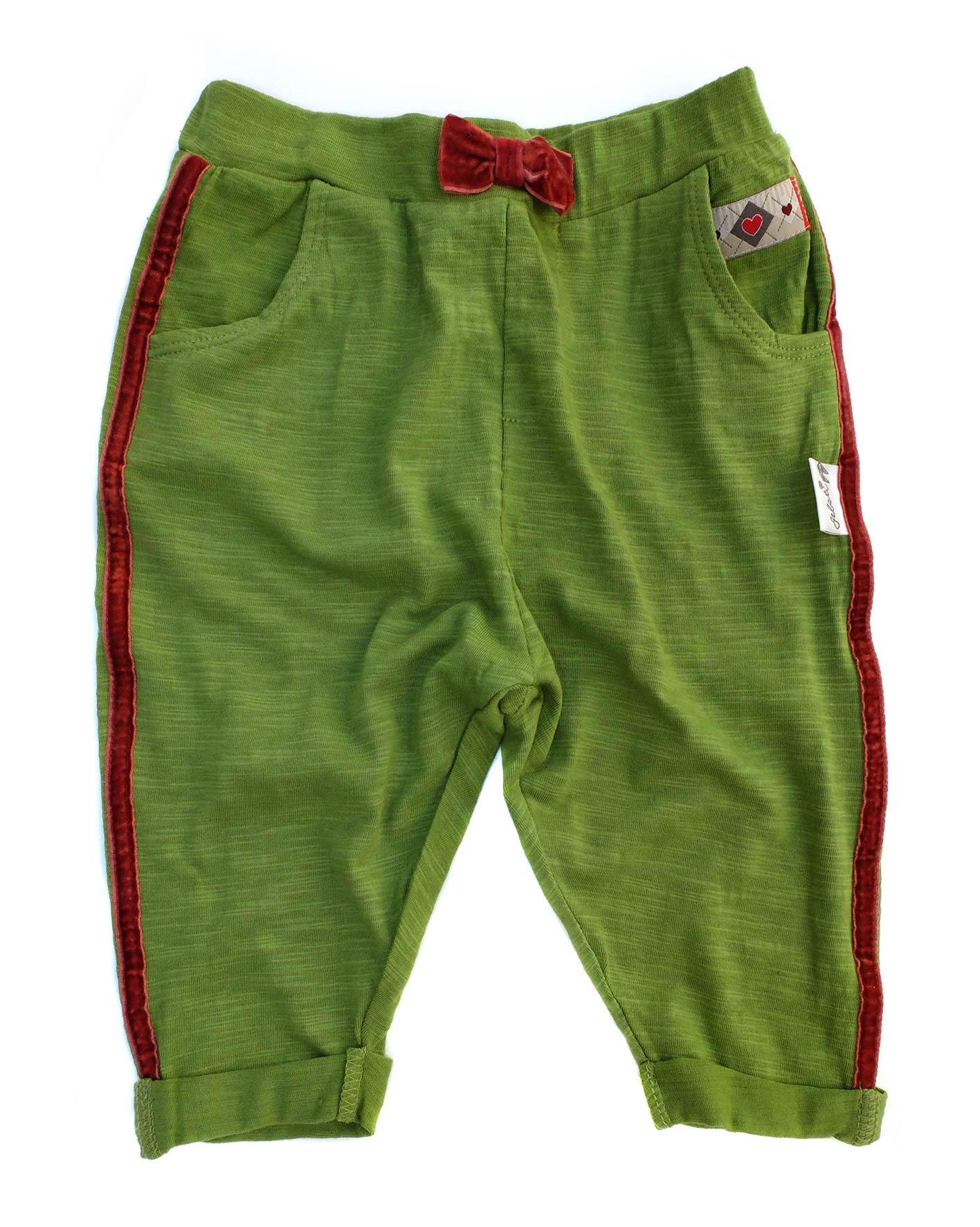 100a613bf32 Gelati Dievčenské nohavice s mašličkou - zelené