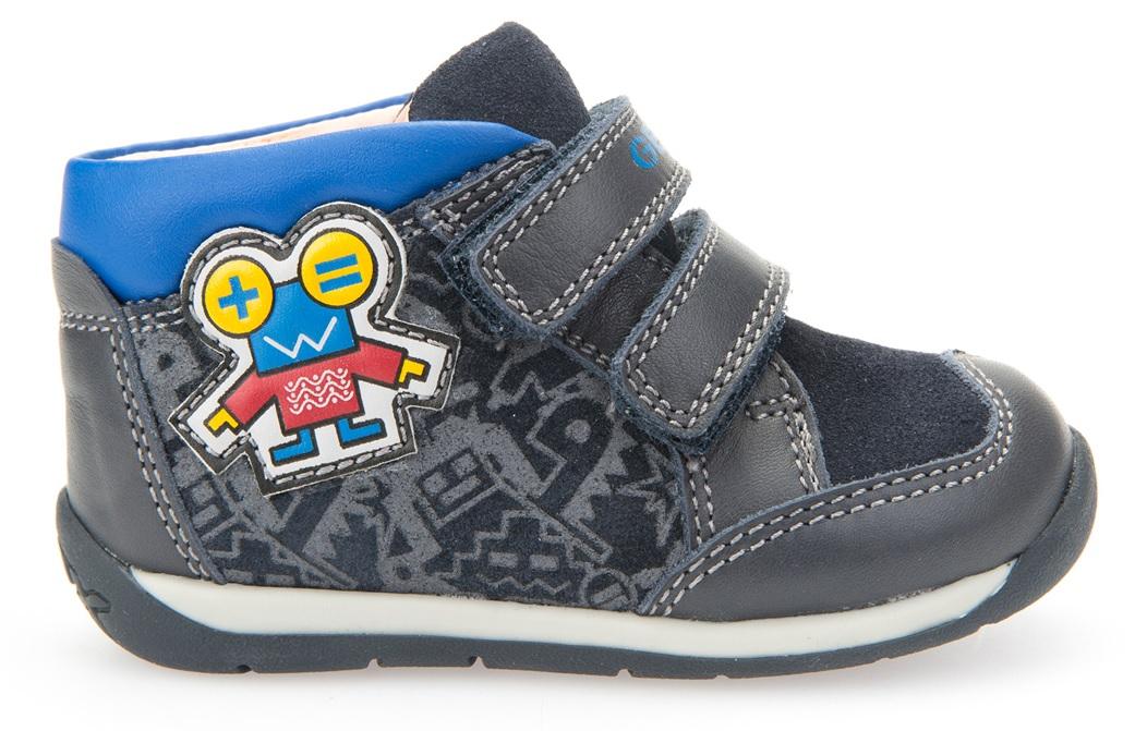 8e94b8844e8bb Geox Chlapčenské členkové tenisky s robotom B Each Boy - tmavo modré, EUR 21