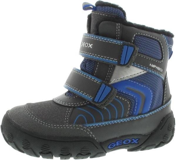 Geox Chlapčenské zateplené členkové topánky B Gulp B Boy Abx - šedo-modré 73eb6f62172